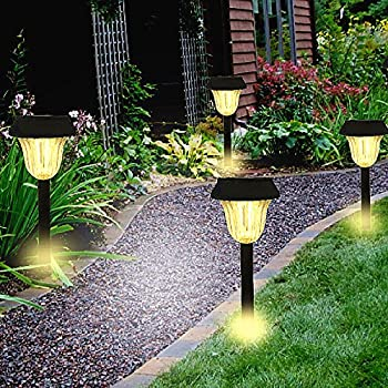 Solar Lights,Sogrand Super Bright High 10 Lumen LED Outdoor Garden Path  Light Landscape Lighting Warm White For Pathway Walkway Driveway Patio Yard  Pack Of ...