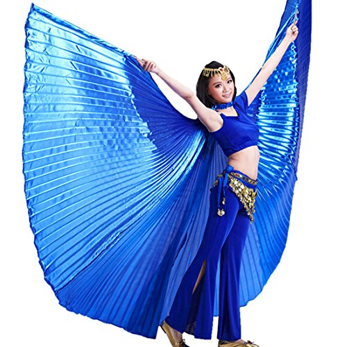 Calcifer Brand New Egyptian Egypt Belly Dance Wings Isis Wings Costume Gift For Big Party Christmas (Deep Blue) - Egyptian Dancers Costumes