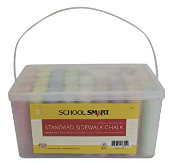 Amazon.com: School Smart Sidewalk - Tiza para escuela (1 x 4 ...