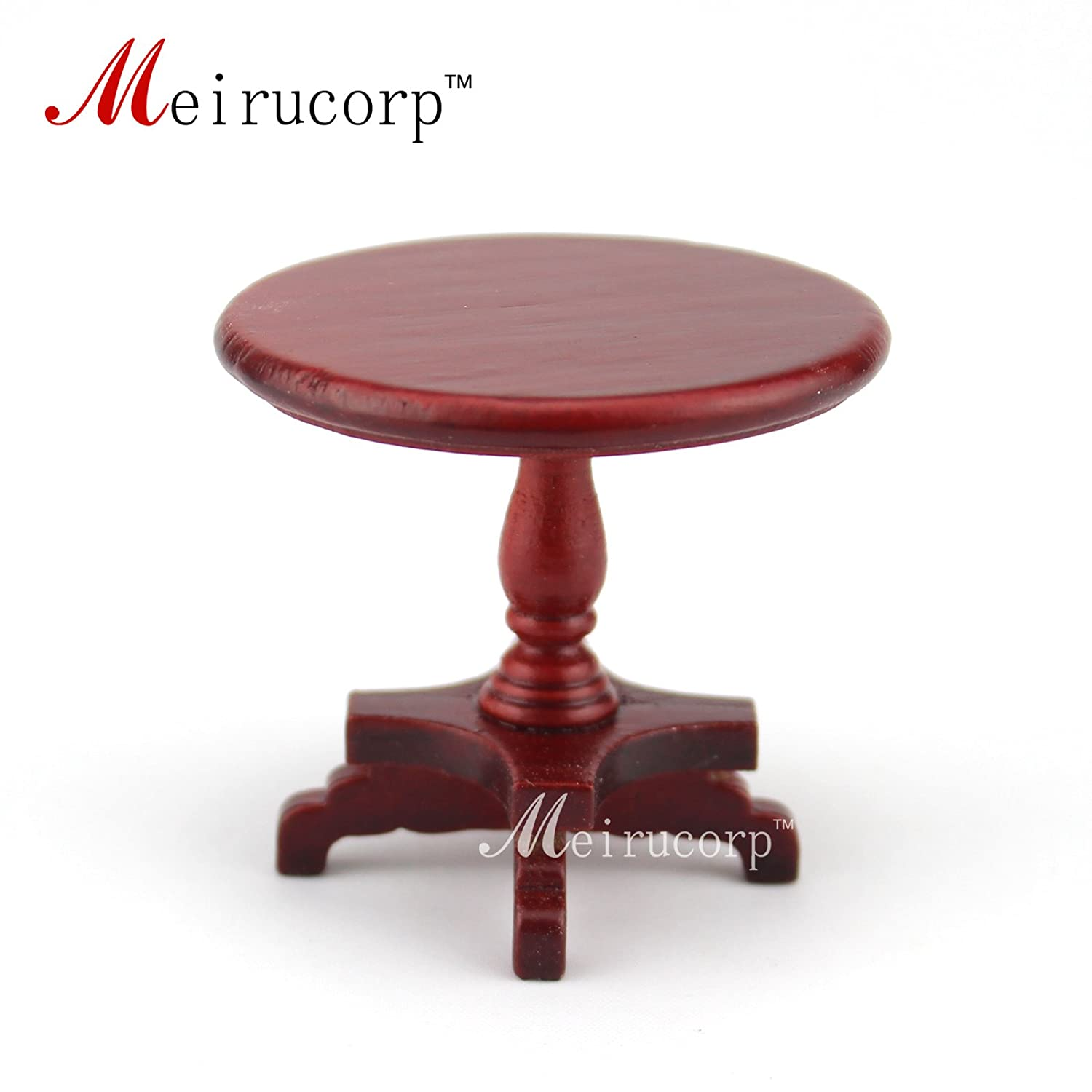 Dollhouse Miniature furniture Red round table model for 1//12 scale