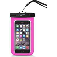 """JOTO Universal Waterproof Pouch Cellphone Dry Bag Case for iPhone XS Max XR XS X 8 7 6S Plus, Samsung Galaxy S9/S9 +/S8/S8 +/Note 8 6 5 4, Pixel 3 XL Pixel 3 2 HTC LG Sony MOTO up to 6.0"""" -Pink"""