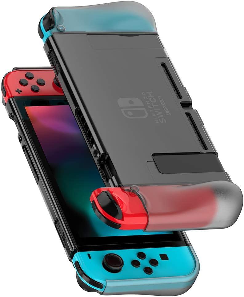 UGREEN Carcasa para Nintendo Switch, Funda Protectora Suave TPU + PC Absorción de Golpes, Case Anti Arañazo para Nintendo Switch Consola y Joy Con