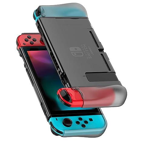 UGREEN Funda Protectora para Nintendo Switch, Carcasa Puesta Suave TPU + PC Absorción de Golpes Anti Arañazo para Consola Joy Con
