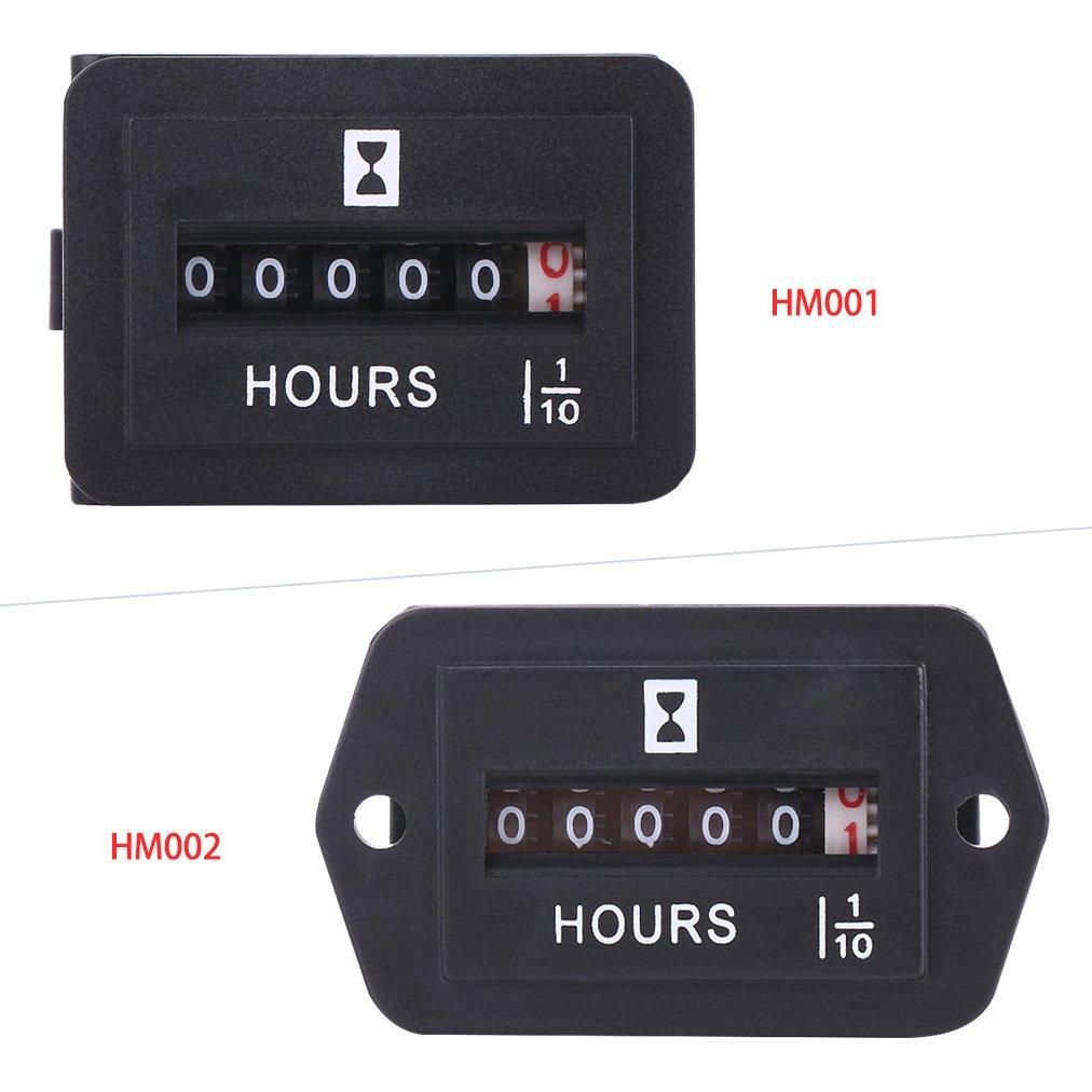 Amazon.com: Horómetro, DC, 6 a 80 V, contador de hora ...