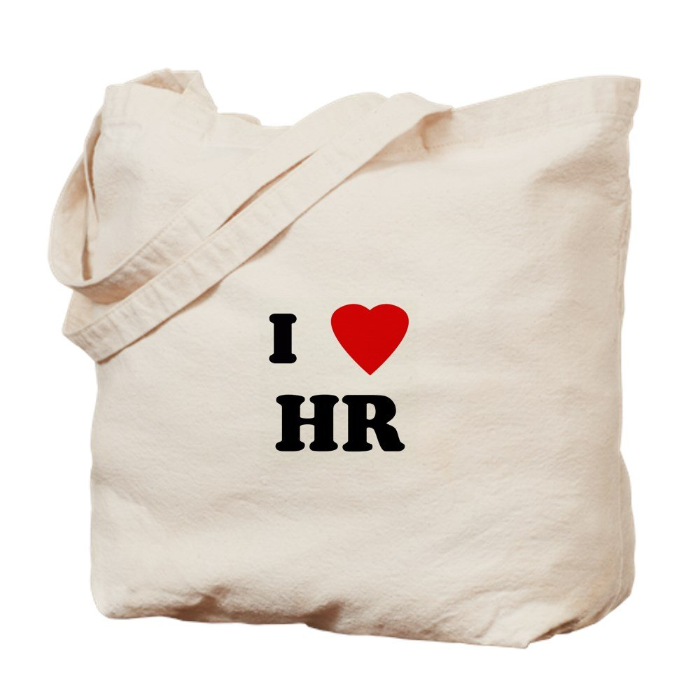 CafePress - I Love HR - Natural Canvas Tote Bag, Cloth Shopping Bag