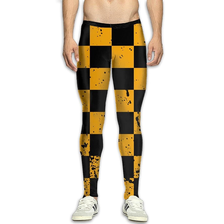 65b678ebe9 Fri Yellow And Black Base Layer Compression Pants/Running Tights Baselayer  Mens Winter Pants Fitness