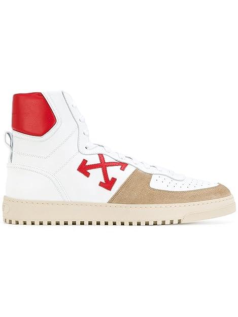 OFF-WHITE - Zapatillas para Hombre Blanco/Rojo IT - Marke Größe, Color, Talla 43 IT - Marke Größe 43: Amazon.es: Zapatos y complementos
