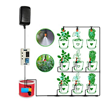 Automatic Watering System Indoor Plant with Timer Switch Auto