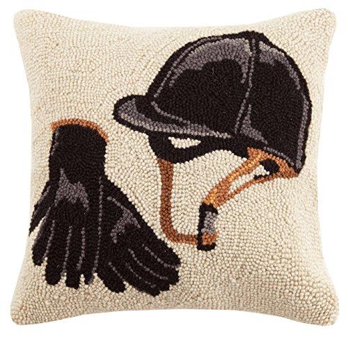Equestrian Bedding - Peking Handicraft Equestrian Gear Hook Pillow, Multicolored