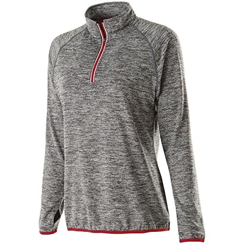 WOMEN'S FORCE TRAINING TOP Holloway Sportswear 2XL Carbon Heather/Scarlet by Holloway