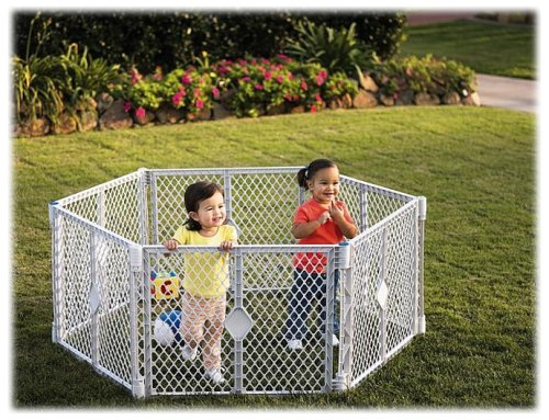 North State IND 8666 Grey 6 Panel Play Gate by North States Industries (Image #2)