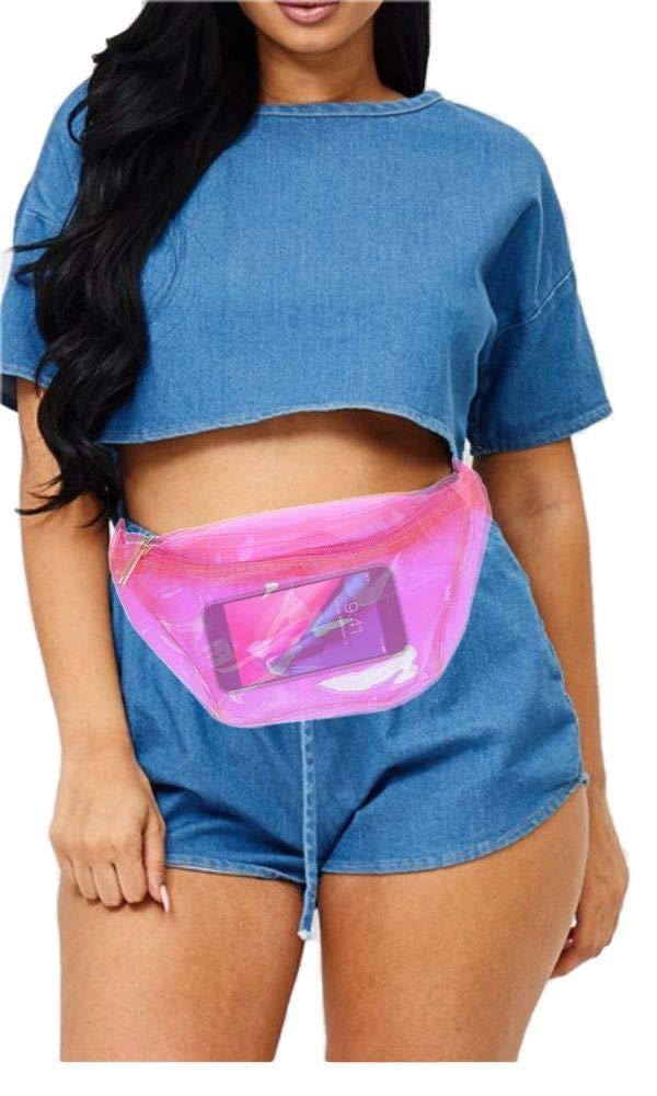 Make Up Fanny Transparent Waist Bag Stadium NFL NBA TSA Approved