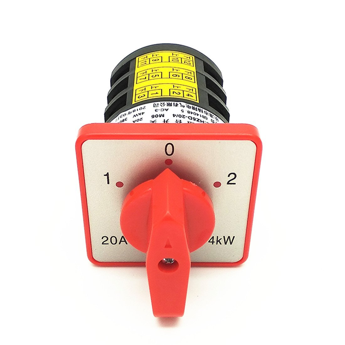 XMHF Universal Rotary Changeover Switch HZ5D-20/4 380V 20A 4KW 3 Positions
