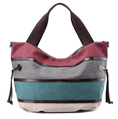 98eb2fa6b73f KISS GOLD(TM) Multi-color Canvas Hobo Bag Handbags Shoulder Bag Casual Tote