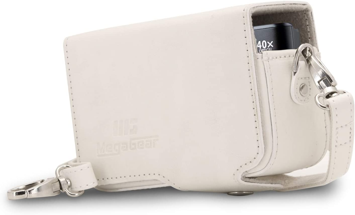 MegaGear Leather Camera Case with Strap compatible with Canon PowerShot SX740 HS SX730 HS