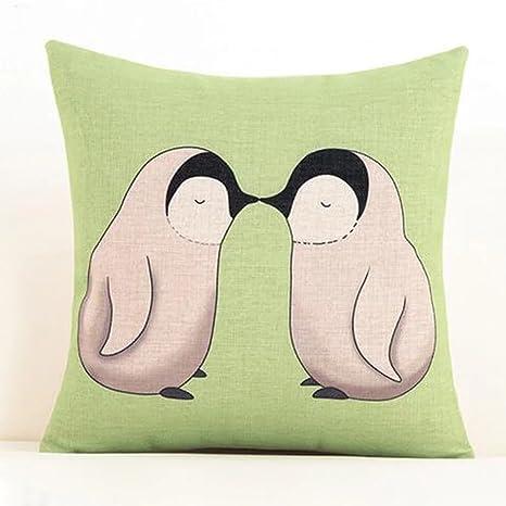 gabriera lino y algodón decorativo, diseño de pingüino manta ...