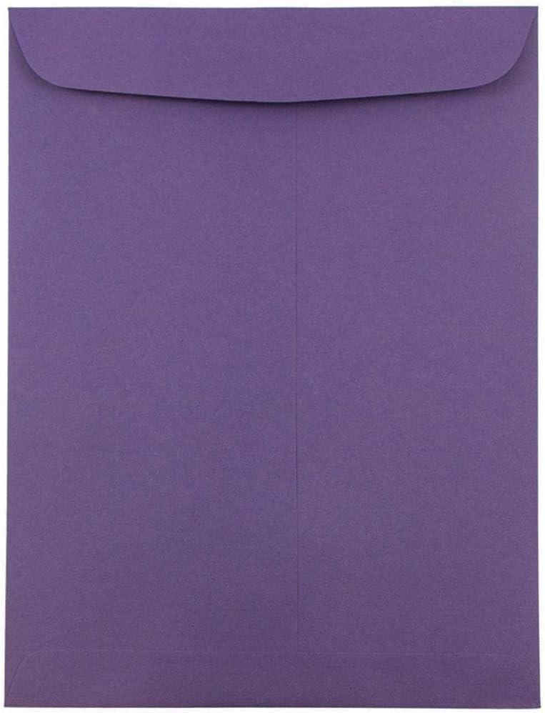 JAM PAPER 9 x 12 Open End Catalog Premium Envelopes - Dark Purple - 50/Pack