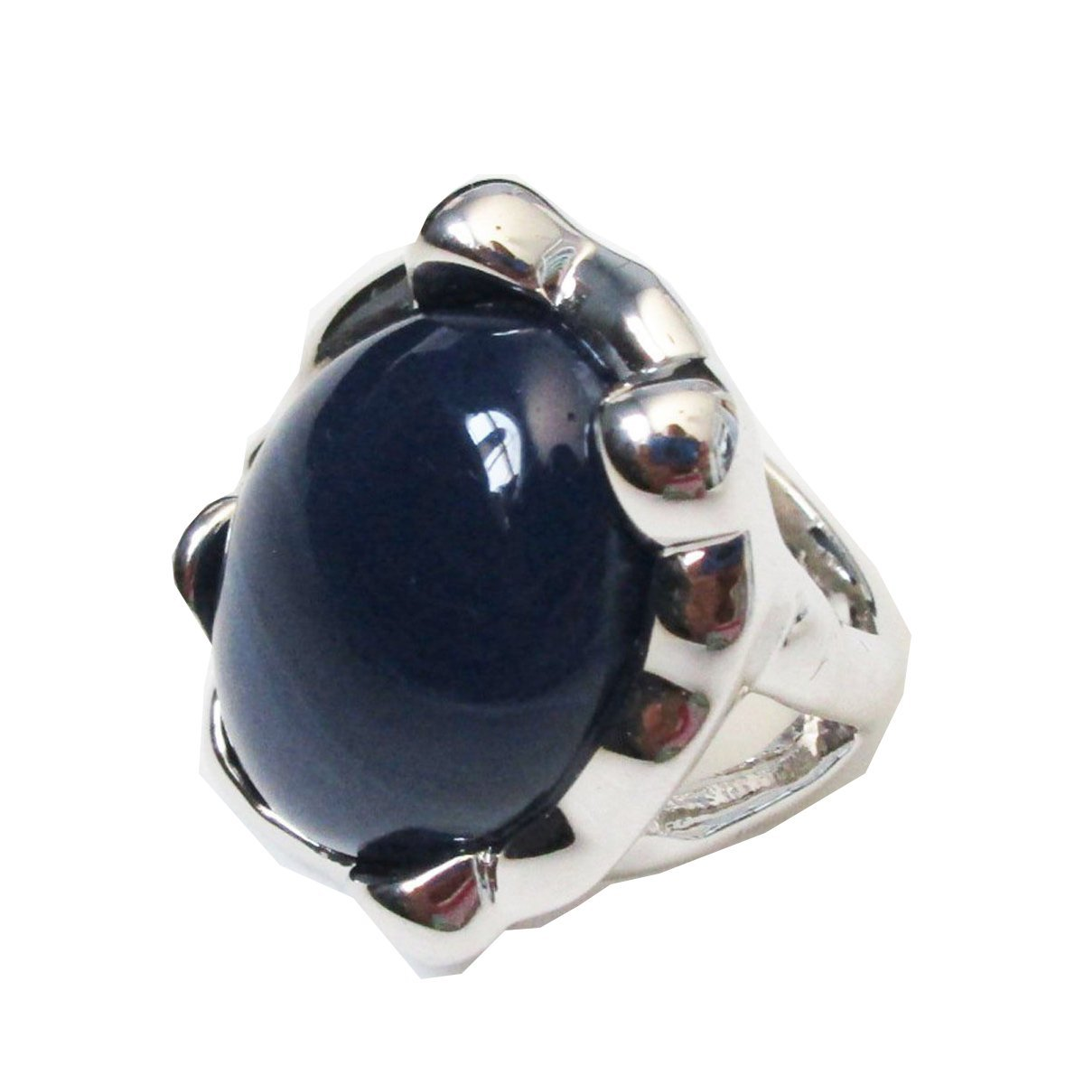 Amazon Lia Sophia Jewelry Pool Ring In Navy Blue Silver Rhodium