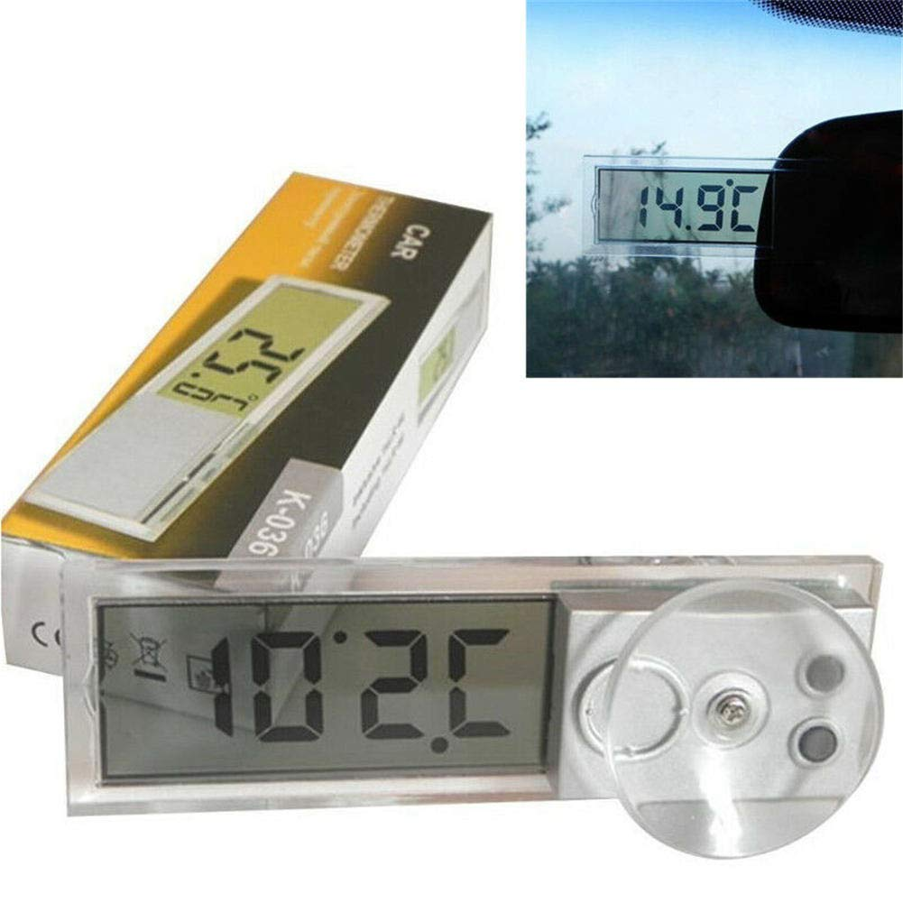 Mini LCD Automotive Thermometer Digital Car Compass Temperature Celsius Osculum Fahrenheit Wall Type Meter LCD Display for Car Indoor Outdoor