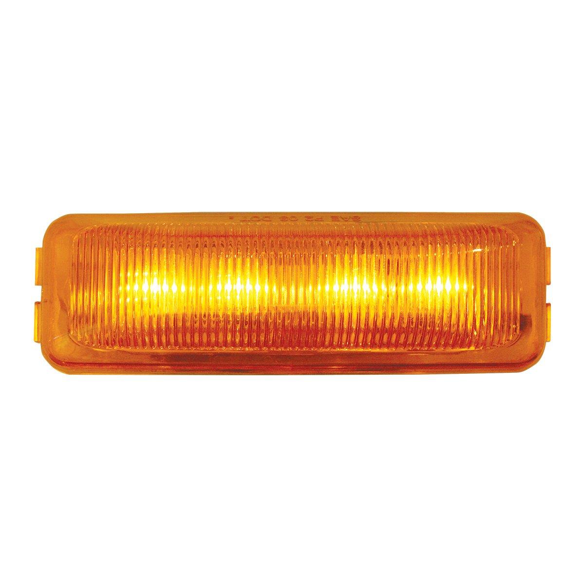 Grand General 84447 White Medium Rectangular Sealed 4-LED Side Marker Light with Clear Lens