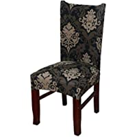 Tvoip 4PCS Spandex Elastic Printing Dining Chair Slipcover Modern Removable Anti-Dirty Kitchen Seat Case Stretch Chair…