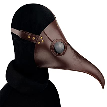 Ruier-hui Peste Doctor pájaro máscara Cuero de la PU Steampunk gótico Retro Máscara Halloween