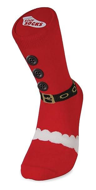 Amazon.com: Silly Socks Christmas Slipper Socks, Santa Boot ...