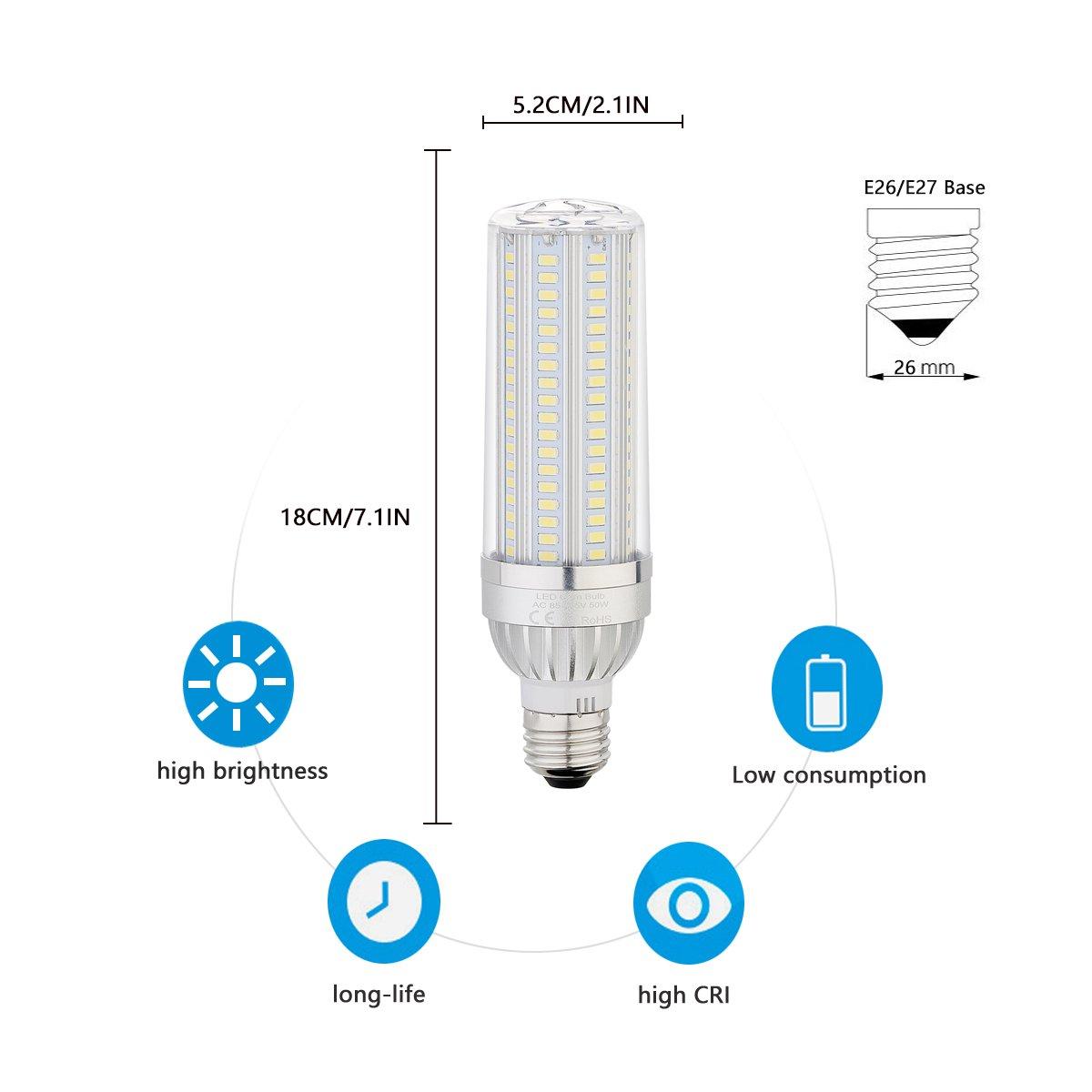 Ahevo 40W Maíz Bombilla LED E27 (280W, equivalente a bombilla incandescente), 3800LM, 360 Degree luz para lámpara de calle amplia zona garaje almacén de ...