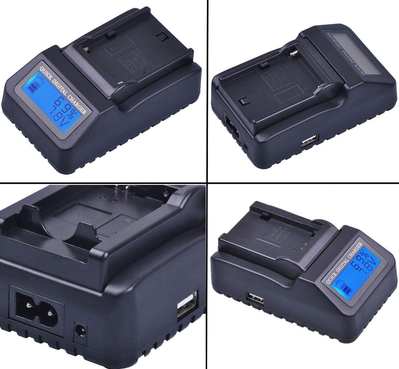 DCR-TRV460E Handycam Camcorder Battery Charger for Sony DCR-TRV260E DCR-TRV270E