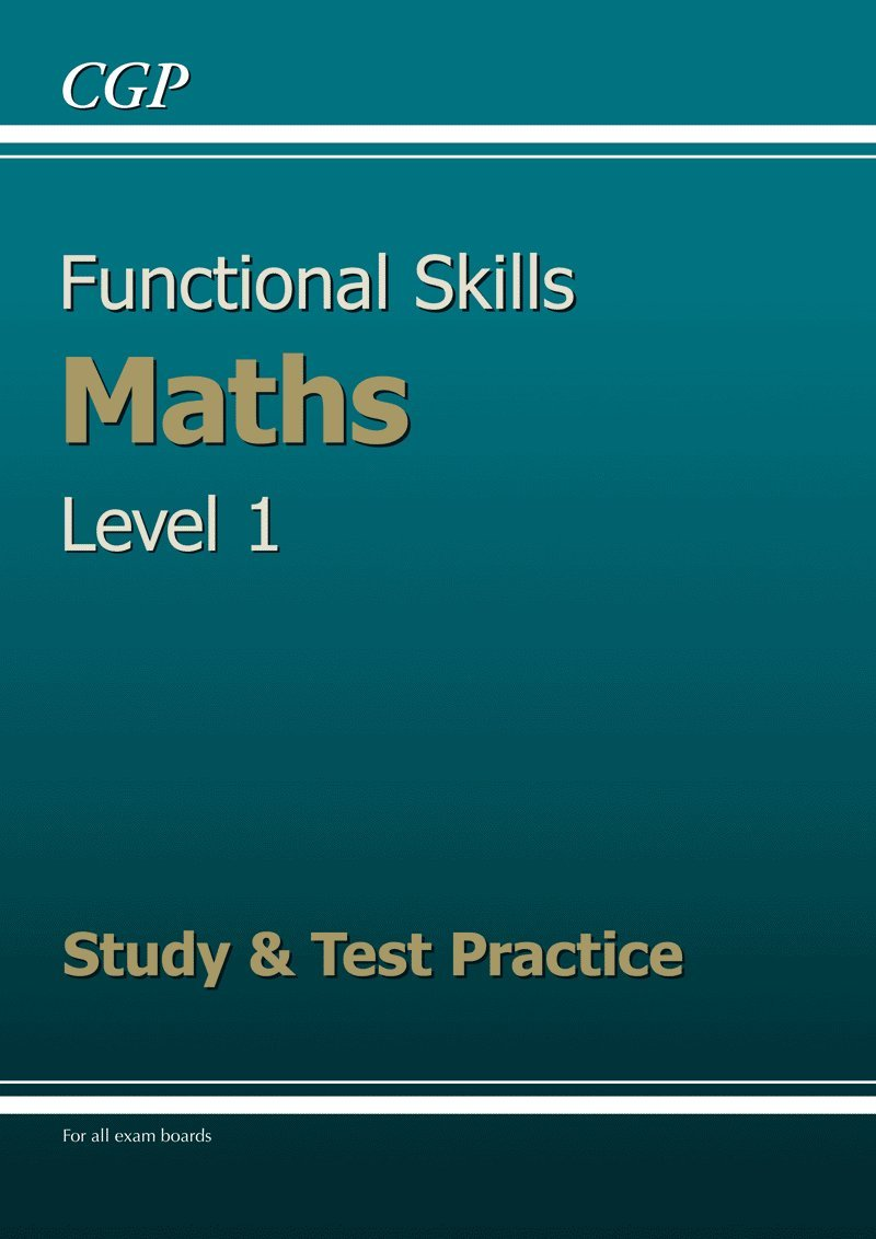 Functional Skills Maths Level 1 - Study & Test Practice: Amazon.co ...