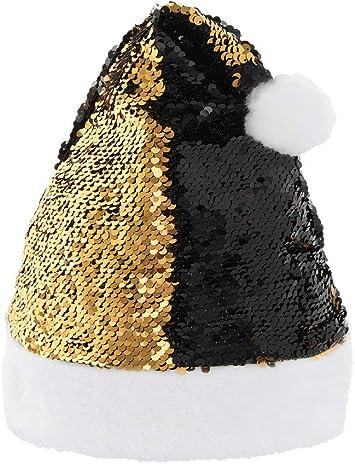 BERRETTO NATALIZIO BABBO NATALE BERRETTO GLITTER BERRETTO Christmas CAPPELLO Paillettes /& Pompon