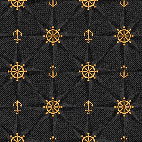 Mariner's Tale Pattern Indoor 26oz Cut Pile Area Rug (8' Square, Onyx)