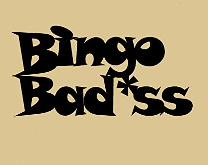 Amazon Bingo Badass Wall Art Home Decor Metal Approximate Size 15 W X 7 1 2 H Everything Else