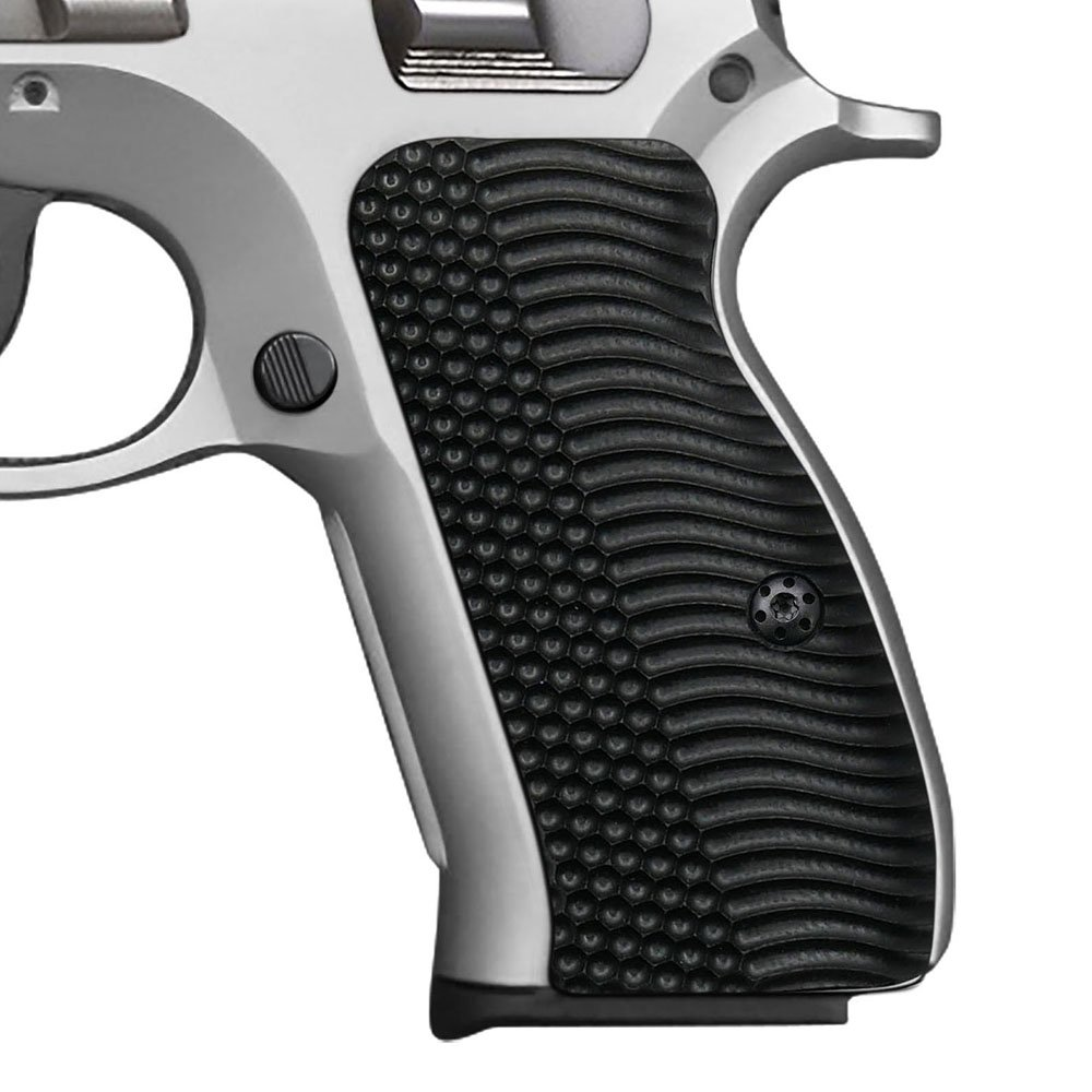 Cool Hand G10 Grips for CZ 75 Compact, OPS Texture, Black, Brand by Cool Hand