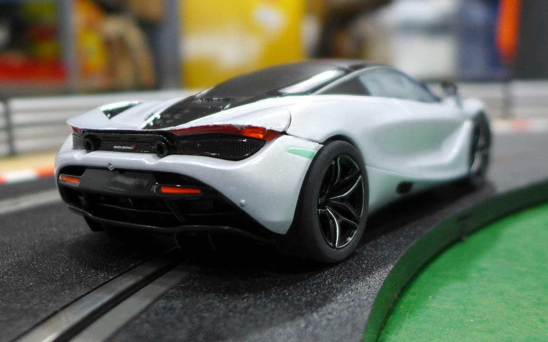 Amazon.com: Scalextric McLaren 720S Glacier White 1:32 Slot Race Car C3982: Toys & Games