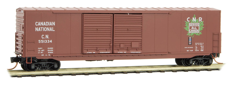 Micro-Trains MTL N-Scale 50フィート ダブルドアボックス 車 カナダ ナショナル/CN #551334 B07DQT595S