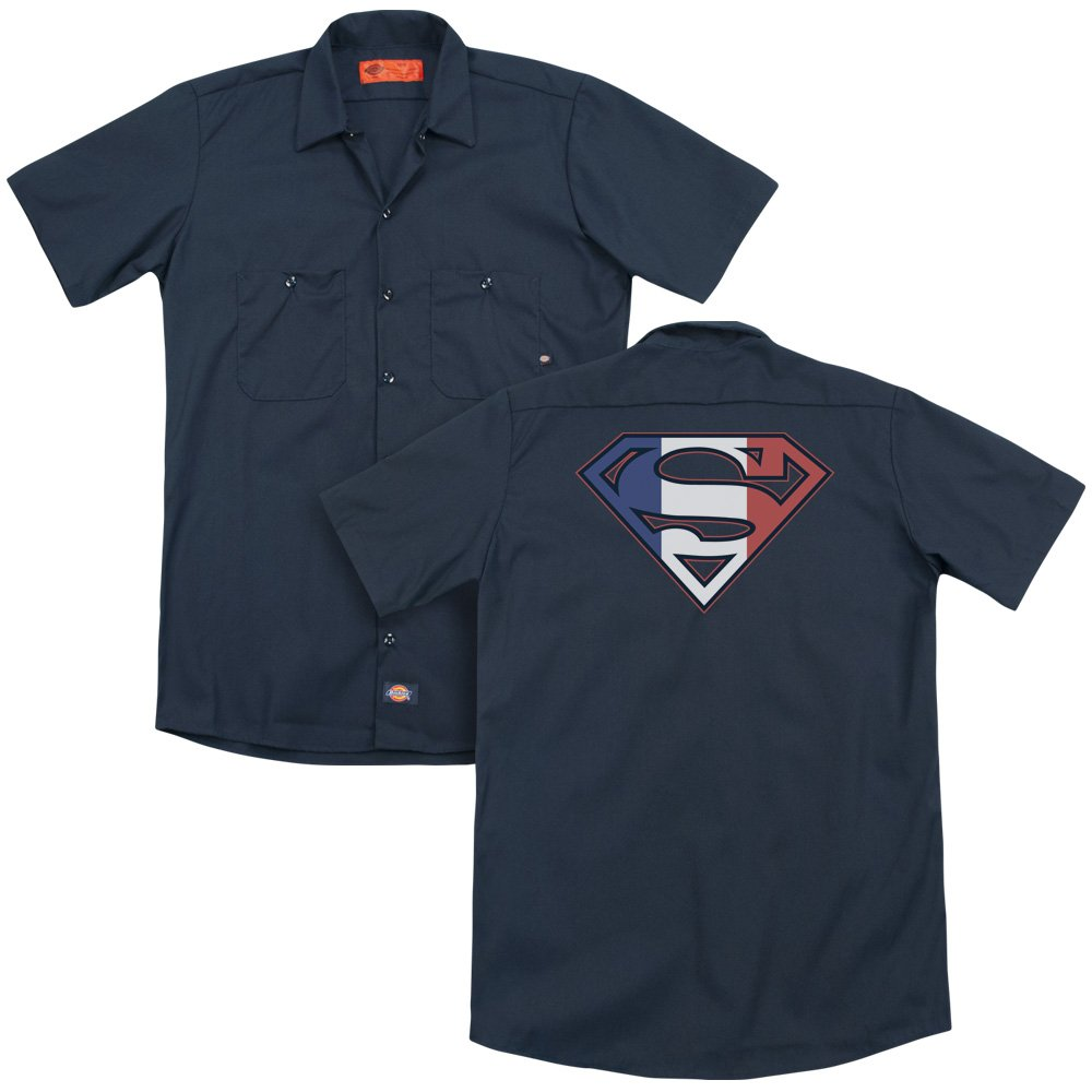 Sons of Gotham Superman French Shield Adult Work Shirt