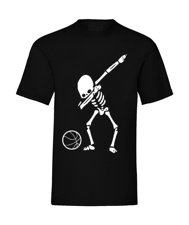 Sorrydenti T-Shirt Uomo Donna Bambino Dabbing Dabbin' Dab Teschio Basket Pallacanestro