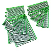 Mudder 16 Pieces Double Sided Prototype PCB Universal Board for DIY, Multiple Sizes