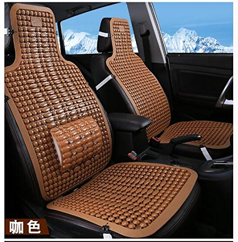 Haoun 2 PCS Car Seat Cover, Summer Car Seat Protector Breathable Car Seat Pad For Most Cars/Trucks (Brown) by Haoun (Image #1)