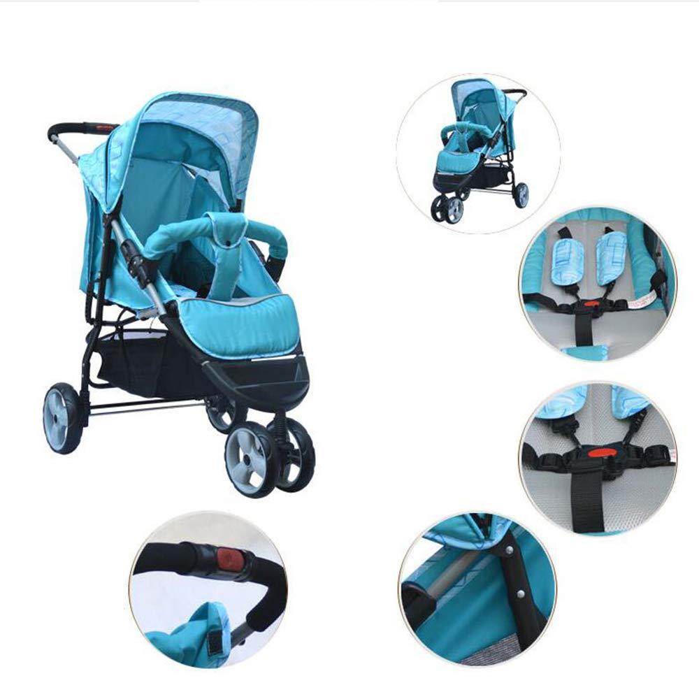 ZhiGe Silla de Paseo Triciclo del bebé reclinable Carro de Tres Ruedas toldo Lleno chocante Cochecito Ligero de Tres Ruedas: Amazon.es: Hogar