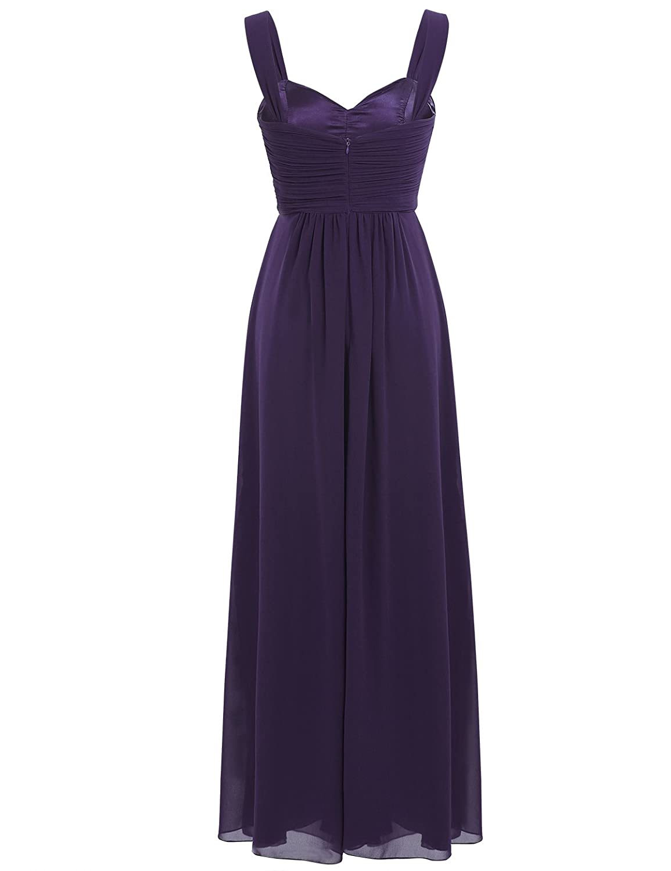 iEFiEL Elegant Damen Kleider Sommer Chiffon Kleid Lang Cocktailkleid ...
