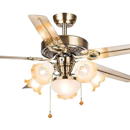 Ventilador Techo Lámpara de De del araña Luz Lámparas fyg76Yb