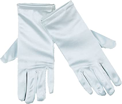 "Wedding Bridal Prom Fancy Dress Party Ladies 9"" Stretch Satin Short Gloves"