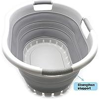 SAMMART - Cesta de lavandería Plegable de plástico