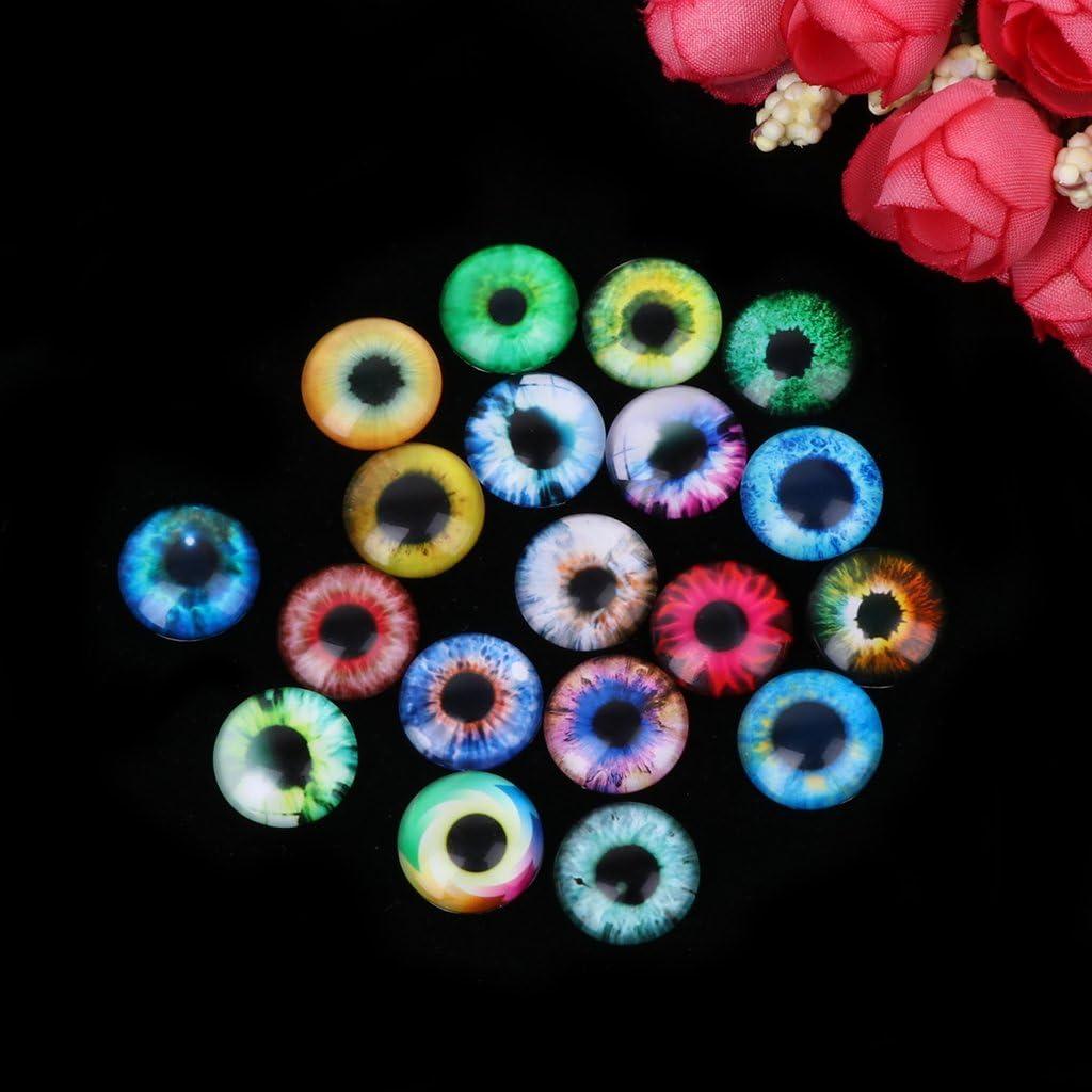 ZOOMY 20Pieces Bambole di Vetro Eye Fai da Te Artigianato Occhi Animali Accessori per Gioielli 10mm