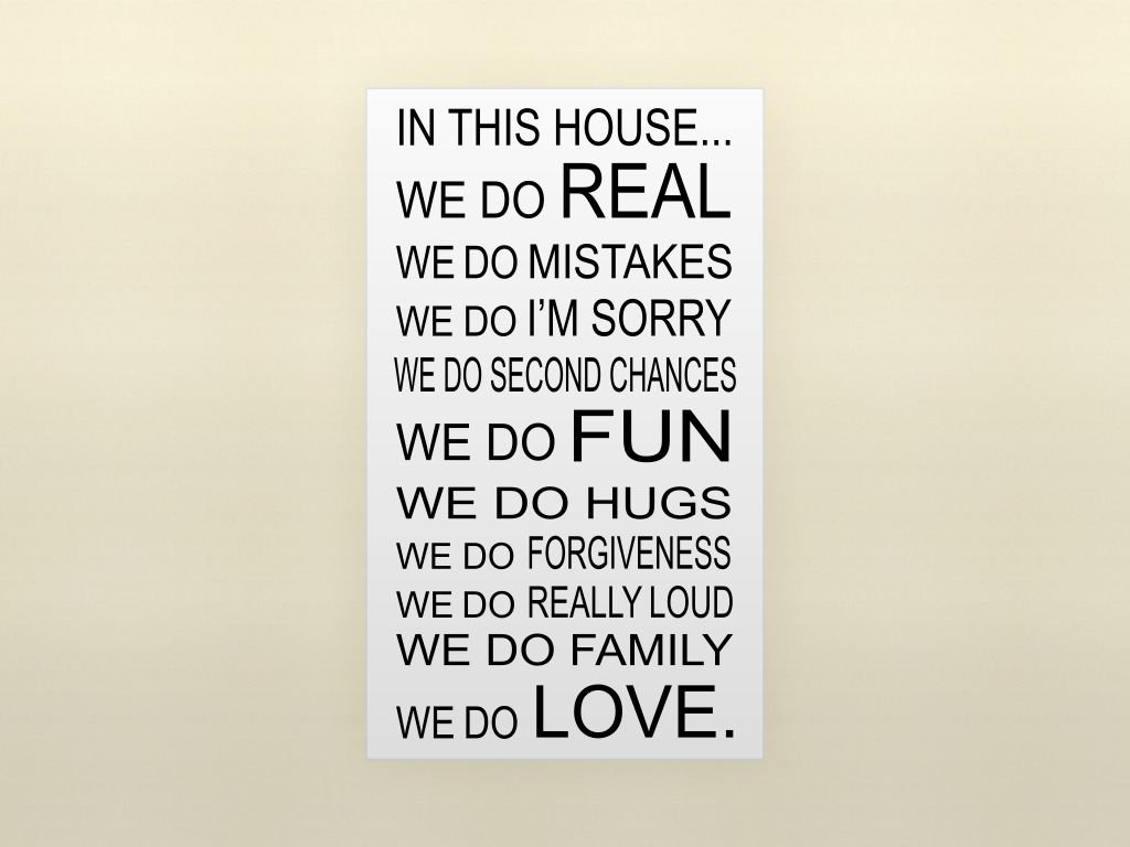Amazon in this house we do love quote vinyl wall decal words amazon in this house we do love quote vinyl wall decal words home kitchen amipublicfo Choice Image