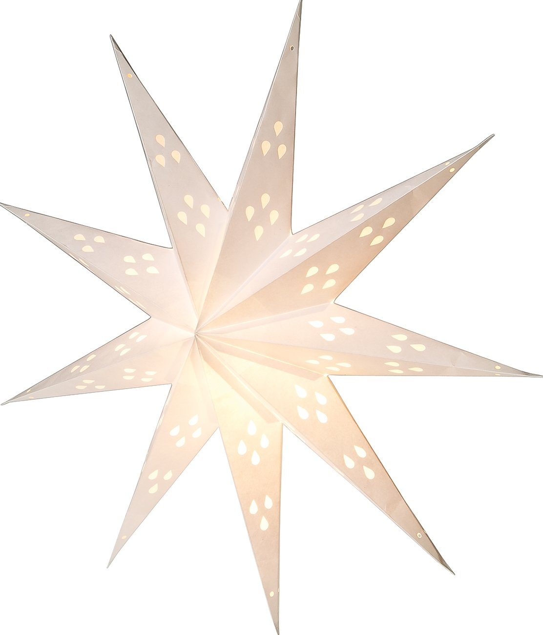 Luna Bazaar Paper Star Lantern (24-Inch, White, Nova Design) - For Home Decor, Parties, and Holiday Decorations