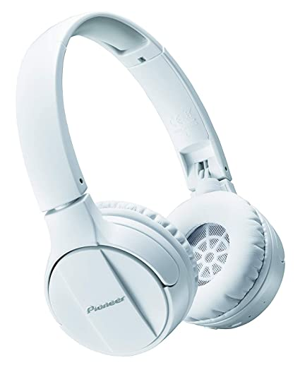 0bd76386690 Amazon.com: Pioneer Bluetooth Lightweight On Ear Wireless Stereo Headphones,  White SE-MJ553BT(W): Electronics