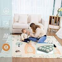 Baby Play mat, playmat, Baby mat Folding Extra Large Thick Foam Crawling playmats Reversible Waterproof Portable playmat…